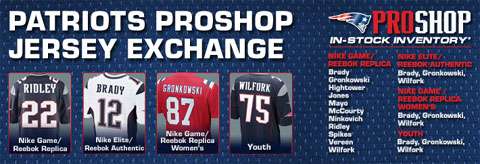 banner from Patriots.com on jersey exchange