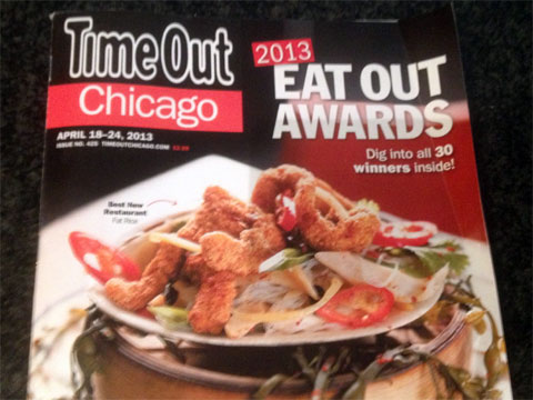 photo of the last issue of Time Out Chicago