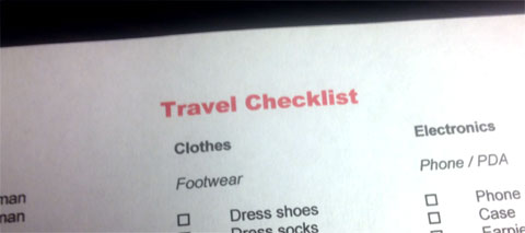 photo of Travel Checklist